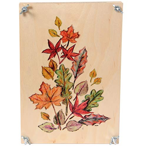 Bartl 111372 Blumenpresse aus Holz 33 cm x 23 cm bunt Top Qualität. Made in Germany.
