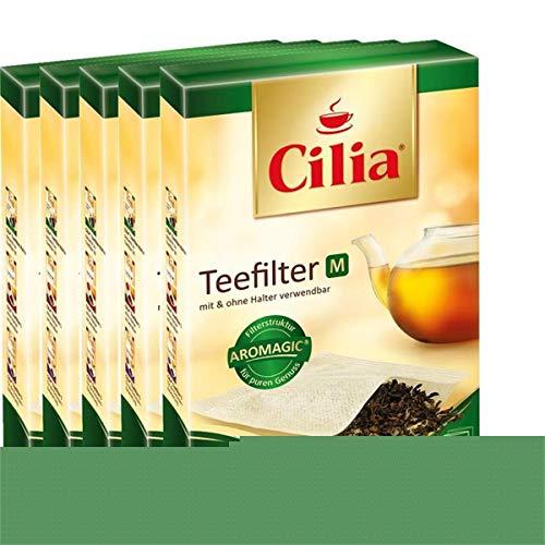 CILIA® Teefilter 100Stk. Grösse M mit/ohne Halter verwendbar ( 5er Pack )