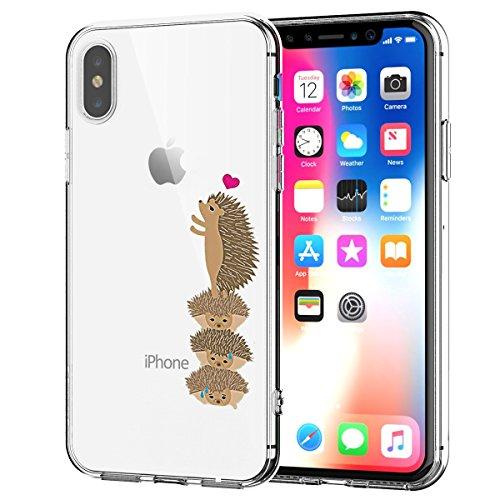 Caler Funda Compatible para iPhone X Case,Suave TPU Gel Silicona Ultra-Delgado Ligera Anti-rasguños Protección Cuentos de Hadas Carcasa para iPhone X