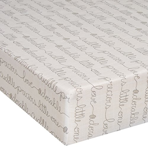 Glenna Jean Crib Fitted Sheet, All My Love, Cream/Beige, Mini