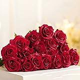 LLPXCC Flores artificiales Creativo casa floral mesa de comedor sala de estar de estilo europeo moderno sencillo flores decorativas hidratante Rose interiores matrimonio rojo floración