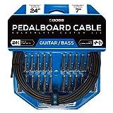 Kit de cables de pedalera sin soldadura BOSS BCK-24 – Cable de 7m + 24 conectores de 1/4' en ángulo recto y recto para formar 12 cables a medida