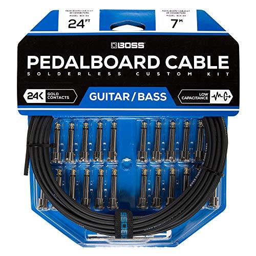 Kit de cables de pedalera sin soldadura BOSS BCK-24 – Cable de 7m + 24 conectores de 1/4