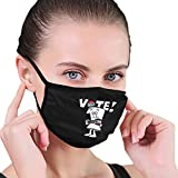 Face Mask Reusable & Washable Schoolhouse Rock Vote with Bill, Election 2020 Unisex Adult Dust Cover Face Bandana Black