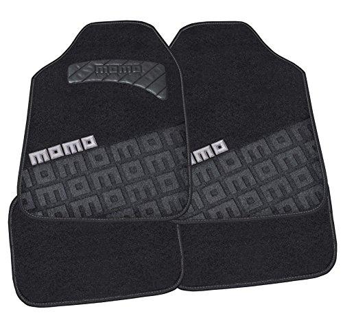 MOMO CM008BG ALFOMBRAS Universal 008 Juego DE 4 Piezas Color Negro/Gris