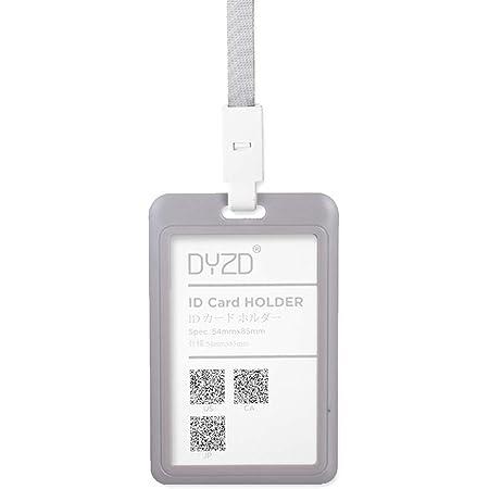 Grey-Blue,2 PCS DYZD Hard Plastic Badge Holders ID Card Holders Waterproof ID Holders with Lanyards ID Badge Card Holder