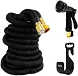HBlife Garden Hose 25ft Portable Flexible Expandable Water Hose with 8 Pattern Spray