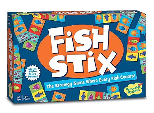 Peaceable Kingdom Award Winning Fish Stix Matching Tile Game for Kids