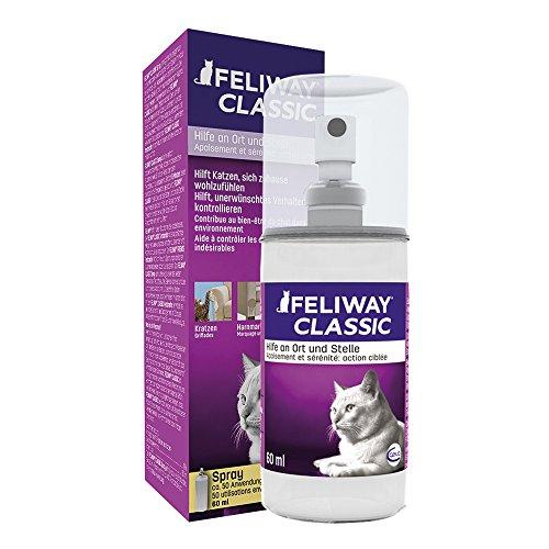 Feliway Spray 60ml, Sprühflasche, Hilfe Scheuheit