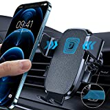 LISEN Phone Holder for Car, AUTO Locking Phone Mount Car with Hook Like Clip Air Vent Car Mount Universal Mobile Phone Holder Compatible with iPhone and All Other Smart Phone