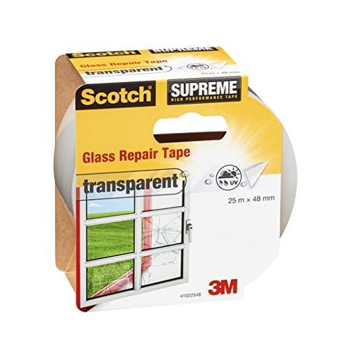 Scotch 41022548 Nastro Adesivo Telato per Riparare Vetri, Trasparente