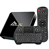 Android TV Box 10, 4GB 64GB TV Box Compatible con 8K 4K 3D, Amlogic s905x3 Dual-WiFi 2.4g / 5g Smart TV Box Mini Teclado de Voz