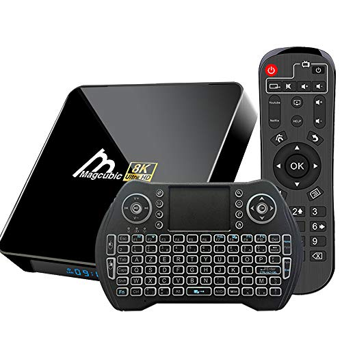 Android TV Box 10, 4GB 64GB TV Box Compatible con 8K 4K 3D, Amlogic s905x3 Dual-WiFi 2.4g / 5g Smart TV Box con Mini Control Remoto de Voz