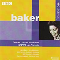 Baker sings Mahler and Brahms by Janet Baker (2008-09-16)