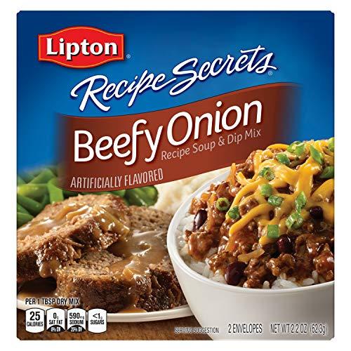 Lipton Recipe Secrets Beefy Onion Soup & Dip Mix 2.2OZ (Pack of 24)