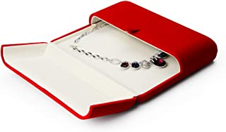 Oirlv Premium Velvet Big Necklace Gift Box Showcase Jewelry Pearl Necklace Long Necklace Storage Case