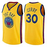 Zxwzzz Los Hombres De Camiseta De La NBA Golden State Warriors No.30 Curry Jerseys Transpirable Bordado Baloncesto Swingman Jersey (Color : Yellow A, Size : Medium)