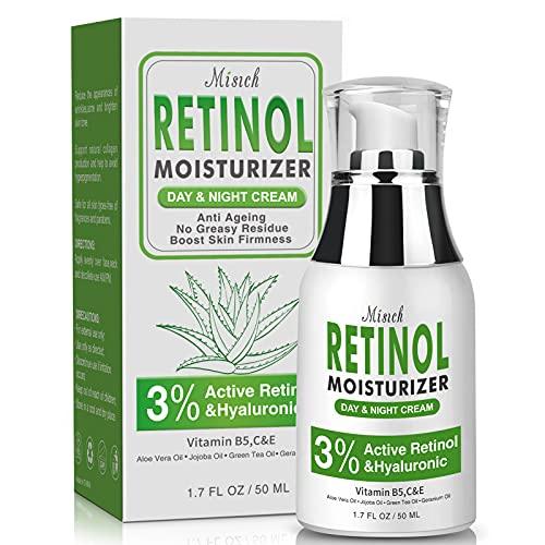 Retinol Moisturizer Cream for Face,Facial Wrinkle Cream with 3% Retinol,...