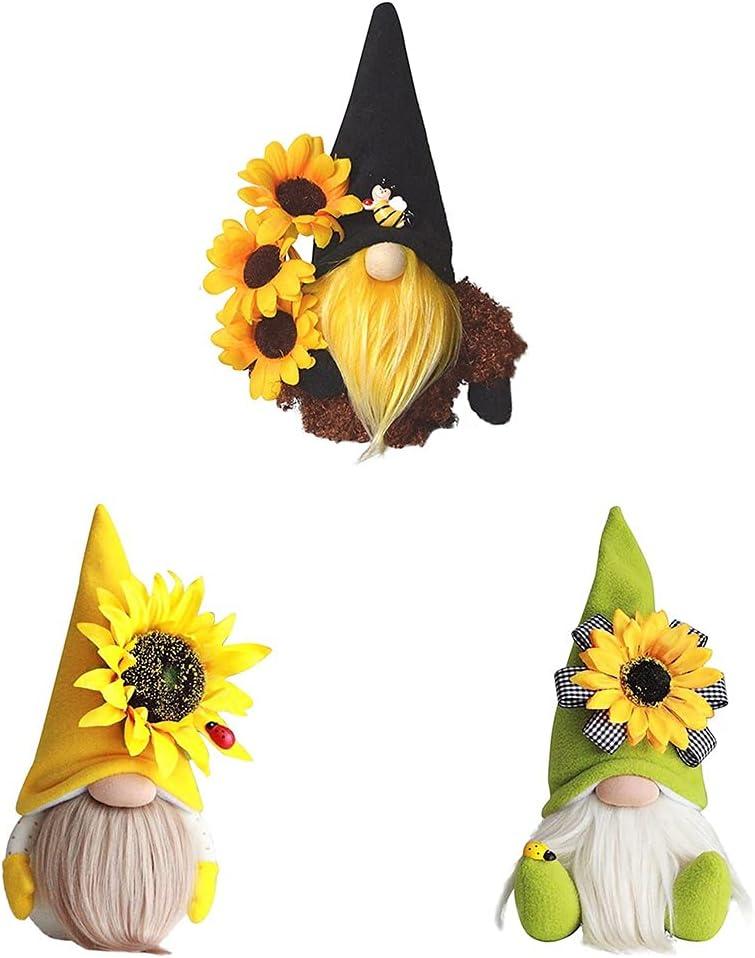 Dallas Mall Sale SALE% OFF Bee Sunflower Gnome Plush Doll P Gnomes Honeybee Decor Handmade