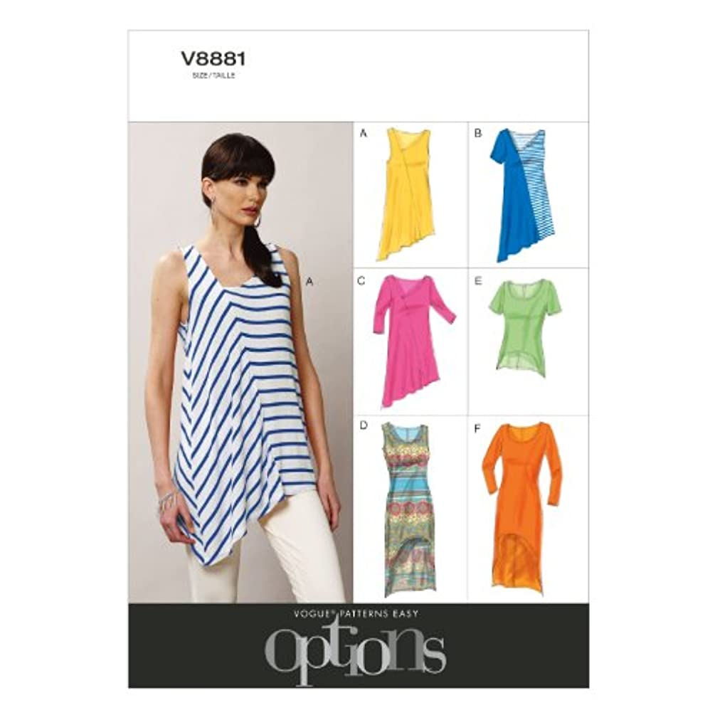 Vogue Patterns V8881 Misses' Top Sewing Template, Size ZZ (LRG-XLG-XXL)