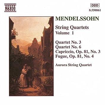 Mendelssohn: String Quartets Nos. 3 and 6 / Capriccio Op. 81, No. 3