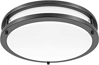 Drosbey 36W Ceiling Light Fixture, 13in Flush Mount Light Fixture, LED Ceiling Lamp for Bathroom, Bedroom, Kitchen, Laundry Room, Garage, Super Bright 3200 Lumens, 5000K Daylight White