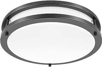 Drosbey 36W Ceiling Light Fixture, 13in Flush Mount Light Fixture, LED Ceiling Lamp for Bathroom, Bedroom, Kitchen, Laundry Room, Garage, Super Bright 3200 Lumens, 5000K Daylight White