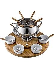 Style'n Cook ALEXA Fondue Set induktion, rostfritt stål/trä, 18 cm