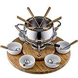 Style'n Cook Alexa - Fondue (Acero Inoxidable y Madera, 18 cm)