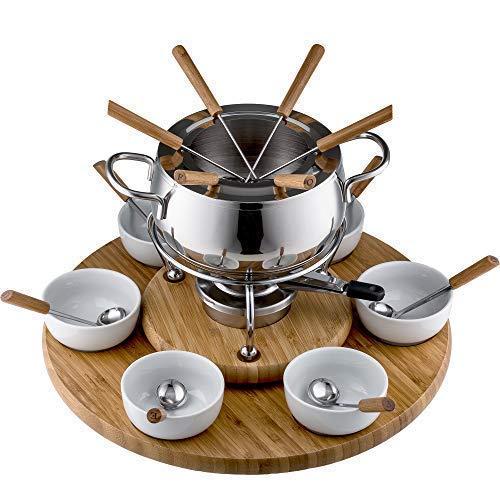 Style'n Cook Alexa Fondue Set Induktion, Edelstahl/Holz, 18 cm