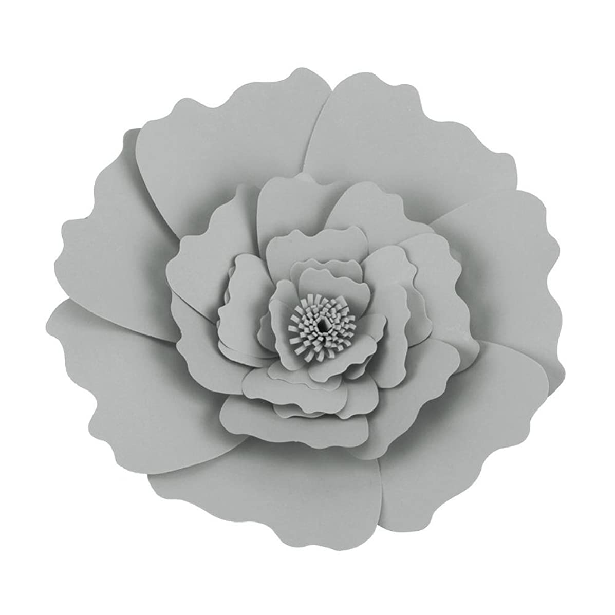 Garosa (Pack of 2) DIY Tissue Paper Flower Handcraft Flowers Wall Hanging Decoration for Birthday Wedding Party(Grey)