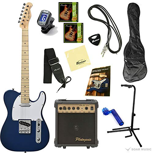 【初期調整済みですぐ弾ける!】 Bacchus バッカス BTE-1 オリジナル エレキギターセット テレキャスタータイプ (M/DLPB)
