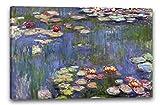 Printed Paintings Leinwand (120x80cm): Claude Monet - Seerosen