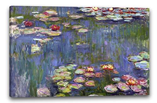 Impresion sobre lienzo (120x80cm): Claude Monet - Nenufares