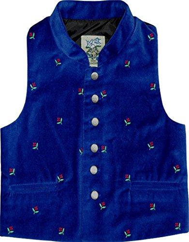 trenditionals Kinder Trachten Samt Weste Trachtenweste Samtweste Michael in verschiedenen Ausführungen, Farben:blau;Größen:104