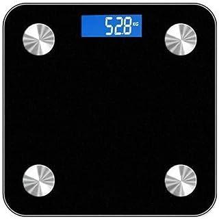 Báscula de Peso electrónica Profesional Báscula de Grasa Corporal Báscula de baño doméstica Báscula Antideslizante Bluetooth Pantalla LCD Durable (Color: Rojo)