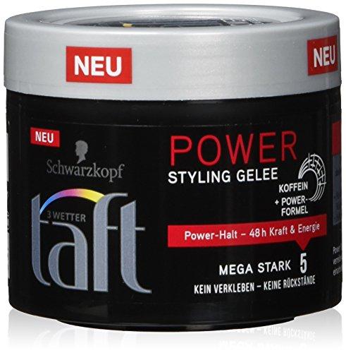 Schwarzkopf 3 Wetter Taft Power Styling Gelee, Mega Starker Halt, 5er Pack (5 x 150 ml)