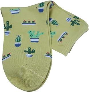 Calcetines de impresión de cactus Calcetines para hombres y mujeres, vuelo, viajes, trabajo, enfermeras, embarazo, nacimiento, ejercicio, uso médico, recuperación, alivio de granos