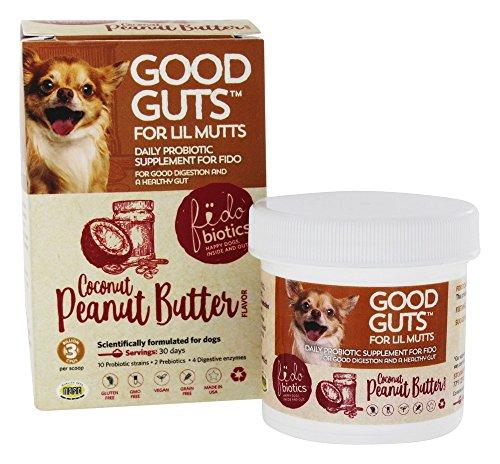 Fidobiotics Good Guts, Daily Probiotic, for Lil Mutts, Coconut Peanut Butter, 3 Billion CFUs, 0.5 oz (15 g)