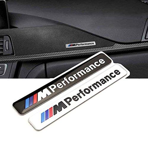 """OxGrow(TM) Emblem """"M Performance"""", zum Aufkleben auf Auto, Motorhaube, Motorrad, 85 x 12mm, 1Stück"""