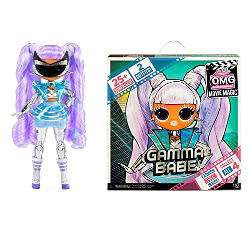LOL Surprise OMG Movie Magic Gamma Babe Fashion Doll with 25 Surprises...