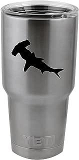Hammerhead Shark Silhouette Vinyl Sticker Decal for Yeti Mug Cup Thermos Pint Glass (4