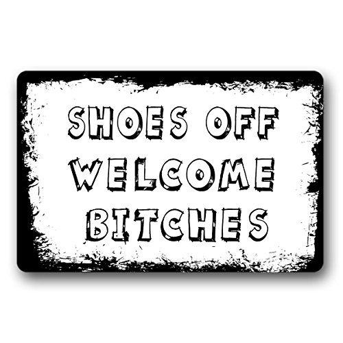 Schoenen uit welkom teven welkom deurmat ingang vloermat niet-geweven binnen outdoor deurmat decoratieve huis en kantoor deurmat 30 door 18 inch