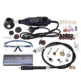 KKmoon 180W Mini Smerigliatrice, Household Electric Drill, Regolazione della Velocità ,Smerigliatrice per Fresatura / lucidatura / Foratura / Taglio / Incisione 114 Pezzi Accessori