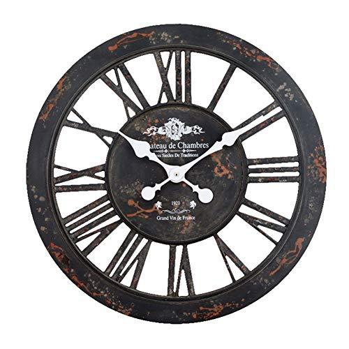 23inches Silent Gear Wall Clock, Grote 3D Rustieke decoratieve Klokken met Romeinse cijfers, creatieve persoonlijkheid Hangende Klokken (Color : C)
