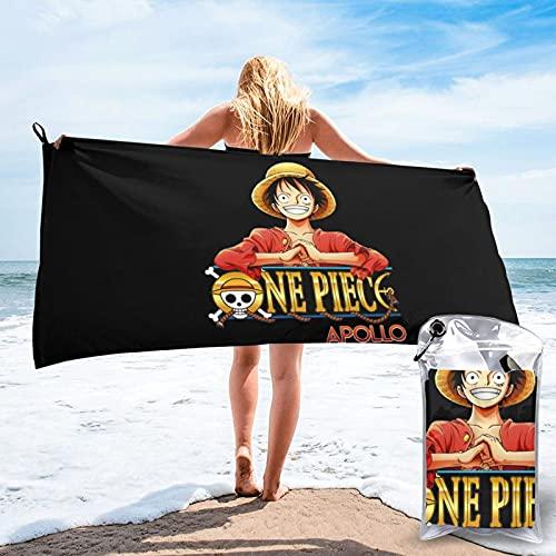 One Piece Logo Toallas de bañoToalla de Playa Toallas de Microfibra Impresión 3D Toalla de Playa Toallas de Piscina de Gran tamaño de Secado rápido