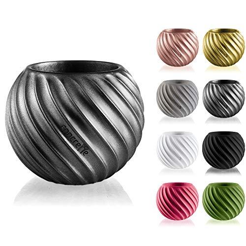 Betonbare bloempot van beton Bauble Wave, diameter 7,6 cm, 17 kleuren Decoratief. 13x13x12 cm staal