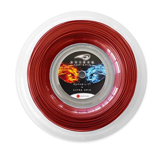 Dozene Cordaje de Tenis. 200 m 130mm. Resistente Calidad. Efecto Extra Control. Volea Saque. Co Poliester Monofilamento Heptagonal. Color Rojo