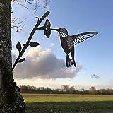 Gartendeko Rost Vogel - Baumstecker Gartendeko - Vogel Metallstecker Vogel Tiere Dekoration für Garten - Dekorative Gartenstatuen Gartenfigur Für Garten Baum Terrasse Zaun