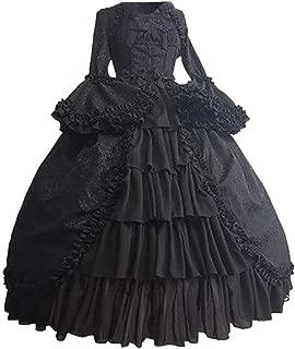 VEKDONE Women Medieval Renaissance Costume Dress Halloween Cosplay Gothic Princess Sweet Lolita Dress